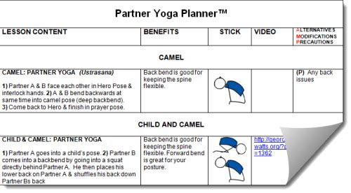 partner yoga lesson plans